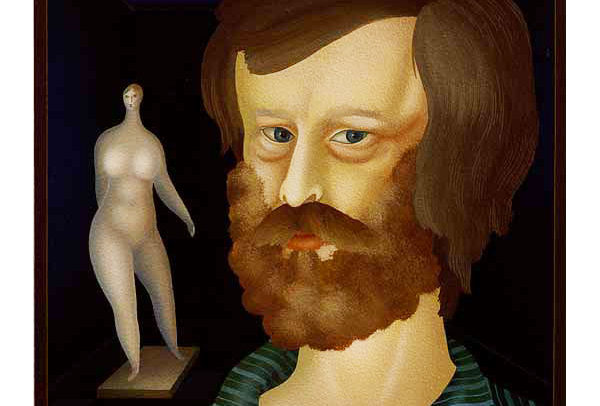 Self Portrait with Sculpture