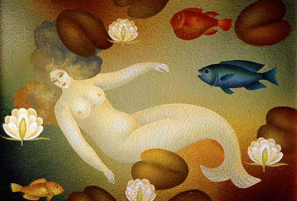 Small Mermaid with Fish
