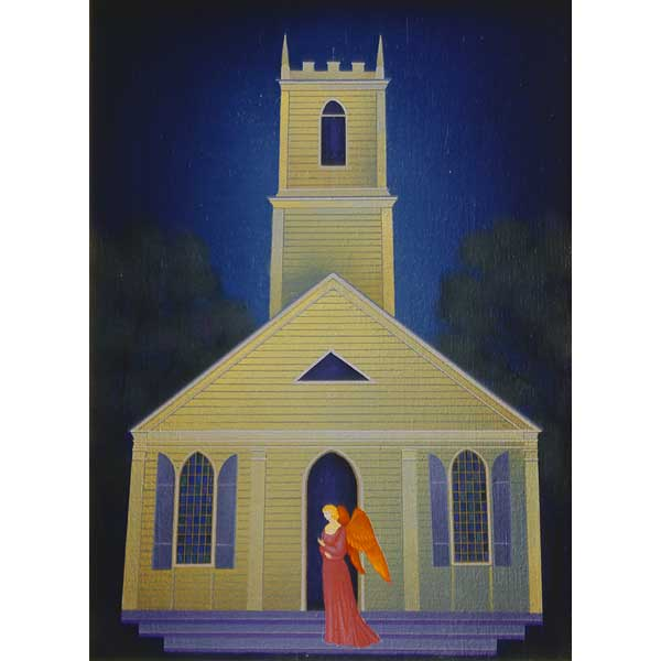 Small Church with Angel