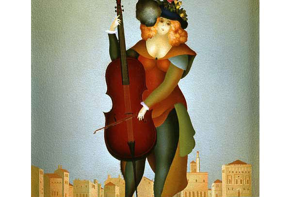 Girl with Contrabass