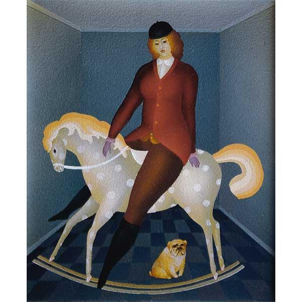 Girl on Rocking Horse