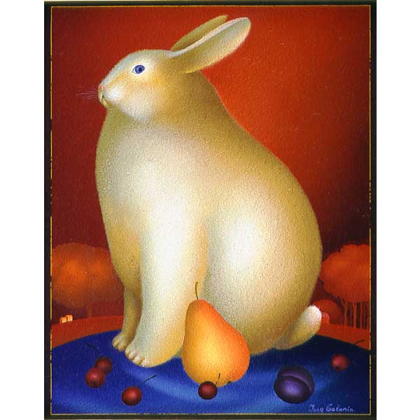 Rabbit with Pear