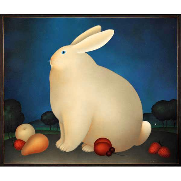 Rabbit, Pear, Peach