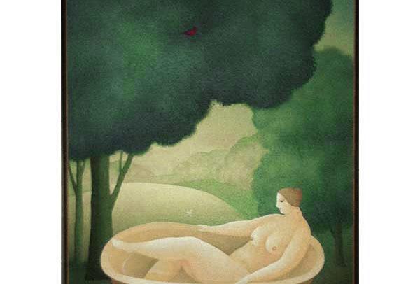Small Nude in Bath