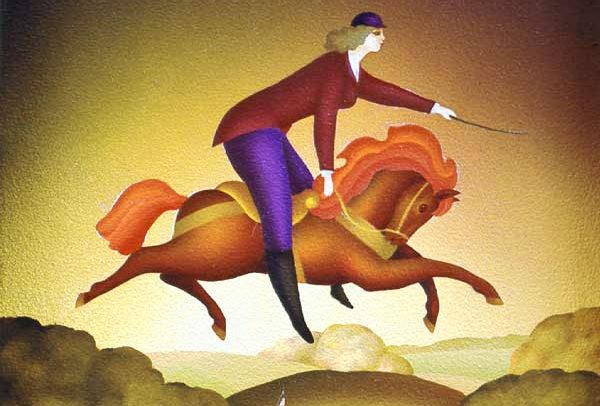 Girl on Carousel-Horse