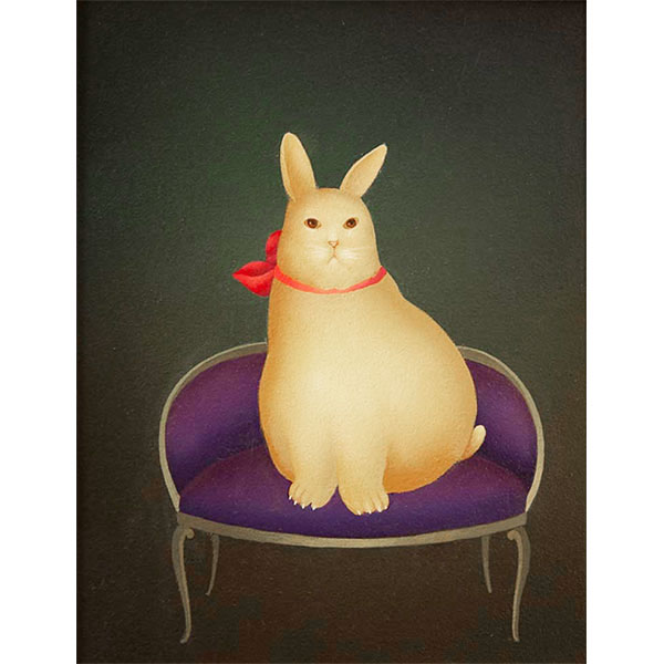 Rabbit on Purple Couch