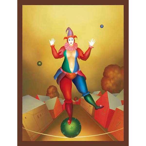Clown on Green Ball