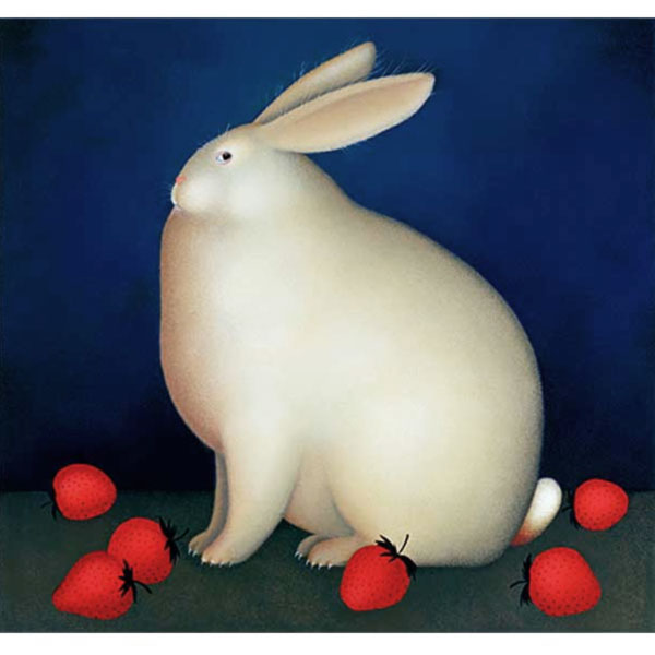Rabbit with Strawberries