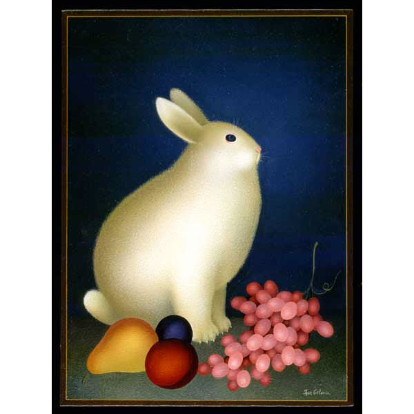 Rabbit with Pink Grapes