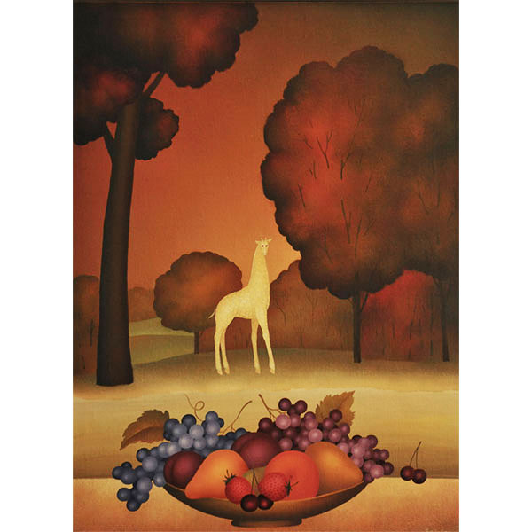 Fruit Bowl with Giraffe