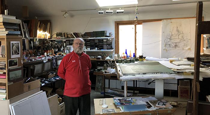 Igor in his studio